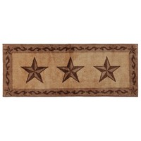 HiEnd Accents Tan Star Rug with Border