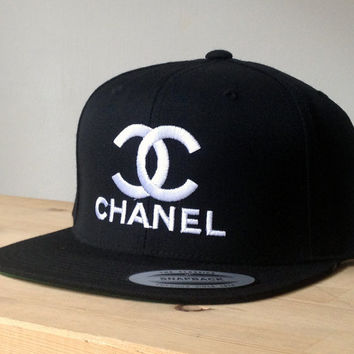Chanel SnapBack Cap with Custom Embroidered Logo.  Made to order quality snap back hats and designs