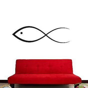 Wall Stickers Vinyl Decal Fish Icon Jesus Christianity Symbol Unique Gift z1061