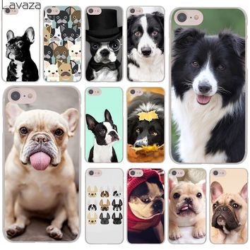 Lavaza French bulldog border collie terrier dog Hard Cover Case for Apple iPhone 8 7 6 6S Plus 5 5S SE 5C 4 4S X 10 Coque Shell
