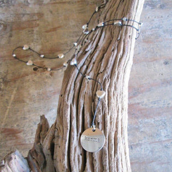 Knotted Bali Necklaces with Charms