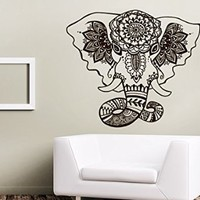 Wall Decals India Pattern Elephant Namaste Yoga Decal Vinyl Sticker Home Art Bedroom Home Decor Interior Design Art Murals LA3