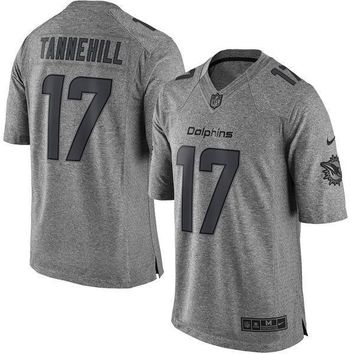 Men's Miami Dolphins Ryan Tannehill Nike Olive Salute To Service Limited Jersey