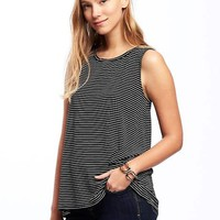 Relaxed Tulip-Back Jersey Sleeveless Top for Women | Old Navy