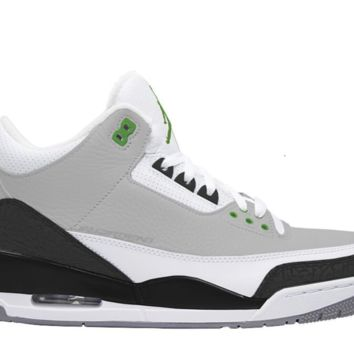 BC QIYIF Nike Air Jordan Retro 3 Chlorophyll Light Smoke Grey 136064-006 Adult and GS PRE ORDER