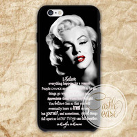 Marilyn Monroe quotes iPhone 4/4S, 5/5S, 5C Series, Samsung Galaxy S3, Samsung Galaxy S4, Samsung Galaxy S5 - Hard Plastic, Rubber Case