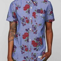 CPO Chambray Floral Button-Down Shirt- Navy