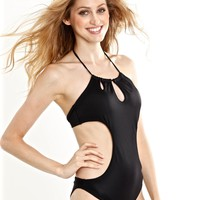 Peixoto Swimwear Tamarin One Piece Swimsuit - Black