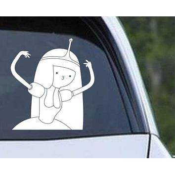 Adventure Time Gangsta Princess Bubblegum Die Cut Vinyl Decal Sticker