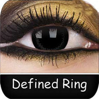 Black Contact Lenses | Defined Ring Big Eyes Contact Lenses