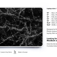 Marble Laptop Skin Laptop decal Laptop Cover Acer Skin Chromebook Skin Cover Dell Skin HP Skin Lenovo Skin Toshiba Skin Black Marble