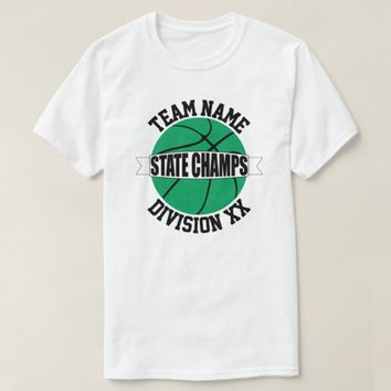 Green Basketball State Championship Team T-Shirts