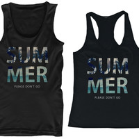 SUMMER Don't Go Matching Couple Tank Tops