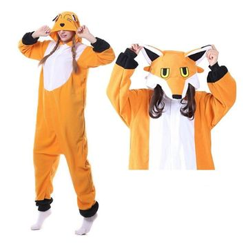 Fox Kugurumi Pajamas Sets Christmas Party  Cosplay Costume Pyjama Animal Onesuit Suits Adult Unisex Winter Warm For WomenKawaii Pokemon go  AT_89_9