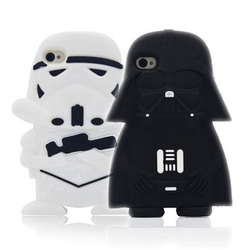 Star Wars Force Episode 1 2 3 4 5 Cute  Case Alien Robot Warriors Darth Vader Capa Soft Silicone Phone Cases For iPhone 7 7Plus 4S 5 5S SE 5C 6G 6S 6Plus AT_72_6