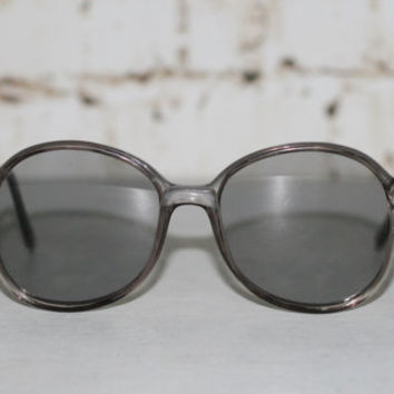 80s Sunglasses Sunnies Corning Eyeglasses Round Oversize Wayfarer Grey Clear Eyewear Eye Glass Frames Glasses Hipster Retro 90s Uisex Non RX