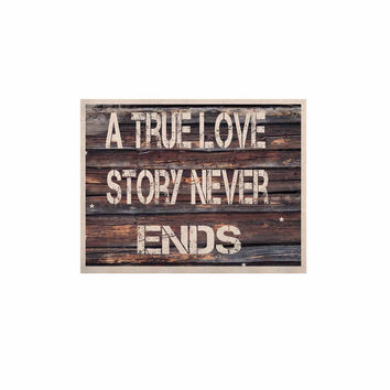 "Suzanne Carter ""True Love"" Contemporary Typography KESS Naturals Canvas (Frame not Included)"