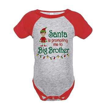 7 ate 9 Apparel Baby's Big Brother Christmas Onepiece Red