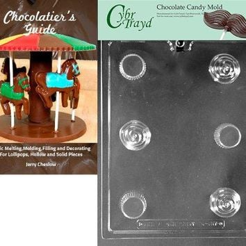 Cybrtrayd Small 3-D Cupcake Kids Chocolate Candy Mold with Chocolatier's Guide Instructions Book Manual