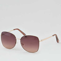 AEO Metal Square Sunglasses , Rose Gold