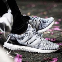 Adidas Ultra Boost Comfortable Running Breathable Sneakers B-CSXY Grey/black
