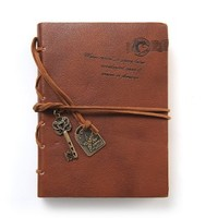 EvZ Journal Diary String Key Retro Vintage Classic Leather Bound Notebook (BC-11551)