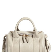 Alexander Wang 'Rockie - Pale Gold' Leather Crossbody Satchel - Grey