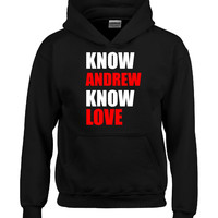 Know ANDREW Know Love name design-Hoodie