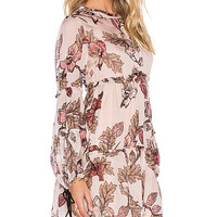 Santa Rosa Mini Dress in Blush Floral