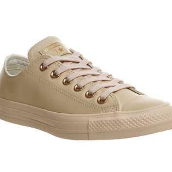 Converse All Star Low Leather Pastel Rose Tan Rose Gold Exclusive - Unisex  Sports cd728ee4c