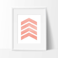 Watercolor Arrows Art Print - Wall Art - Office Decor - Home Decor - Watercolor Art