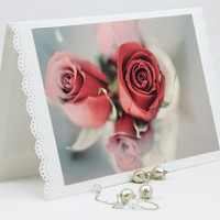 Romantic Blank Photo Greeting Card by SeeWorldThruMyEyes on Etsy