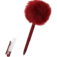 Red Puff Ball Pen