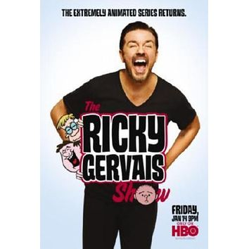 Ricky Gervais Show poster Metal Sign Wall Art 8in x 12in
