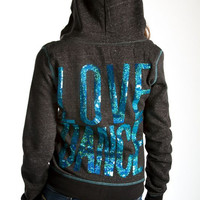 "Heartless Romantics ""LOVE DANCE"" Hoodie, Teal"