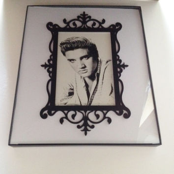 Vintage Elvis Postcard Framed and Ready to Hang Elvis Presley