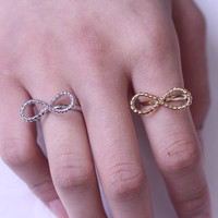 Big Inpinity ring/Ribbon Inpinity ring/  Forever love and friendship Inpinity ring