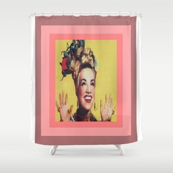 Carmen Miranda Shower Curtain by Kathead Tarot/David Rivera