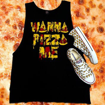 Wanna Pizza Me Converse Low Top
