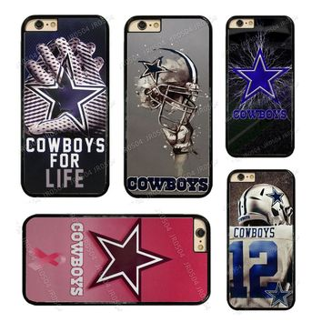 JR0504 Dallas Cowboys Football PC+TPU Edge Phone Case Cover For iphone XS MAX XR X 5s 6s 7 8 Plus Samsung s5 s6 s7 s8 s9 J5 #014