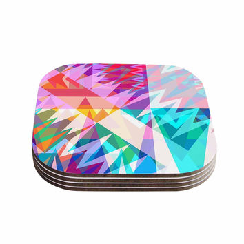 "Miranda Mol ""Triangle Feast"" Abstract Geometric Coasters (Set of 4)"