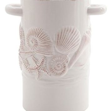 Coastal Home Shell Utensil Crock One Size