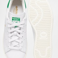 adidas Originals White & Green Stan Smith Sneakers