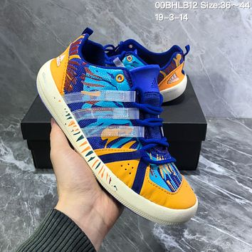 DCCK2 A989 Adidas Terrex boat Retro Camouflage breathable Wire Intervention Water Shoes Blue Yellow