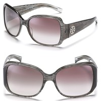 Tory Burch Large Square Sunglasses with Logo Temple Detail   Bloomingdale's