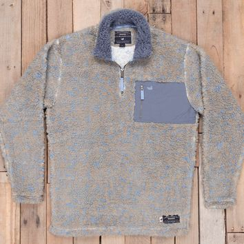 Southern Marsh Blue Ridge Sherpa Pullover - Brown/French Blue