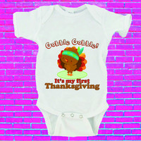 Gobble Gobble It's My First Thanksgiving Gerber Onesuit ®