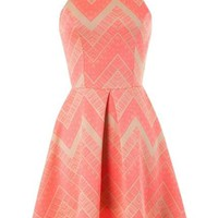 Chevron Skater Dress