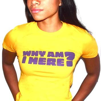 Why am I here t-shirt provides aid to refugees of war