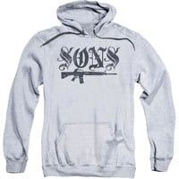 Sons Of Anarchy Men's  Worn Son Hooded Sweatshirt Blue
